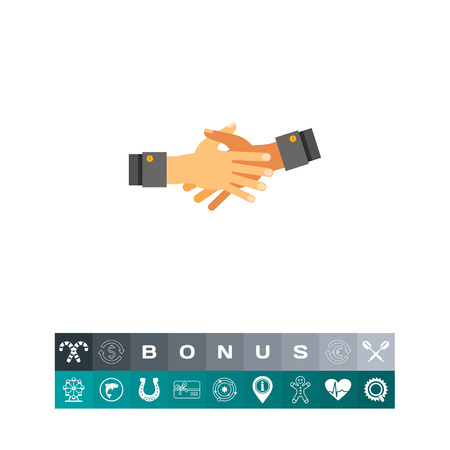 Two open hands stretched out for shaking and held together. Together hands, cooperation, partnership. Together hands concept. Can be used for topics like hand gesture, cooperation, partnership