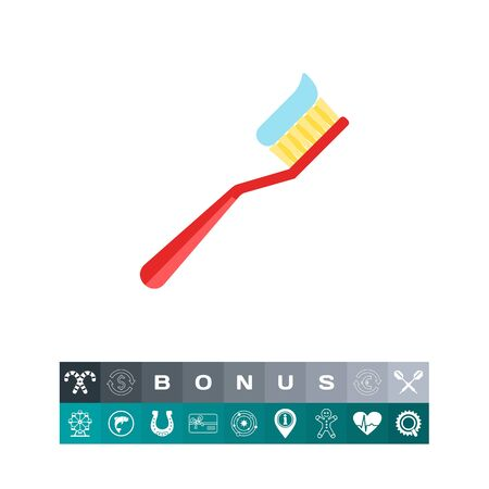 Tooth Brush Vector Icon isolated on white background, vector illustration. Illustration