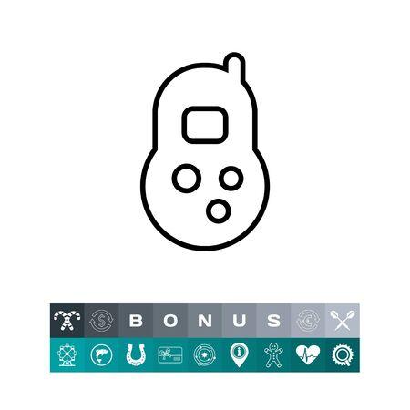 Toy telephone icon isolated on white background, vector illustration.