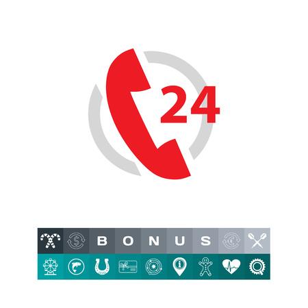 Twenty-four hour support service Illustration