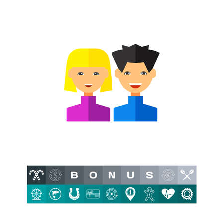 Two Happy Users Icon