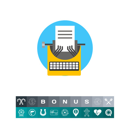 Typewriter as Blogging Concept Icon Illustration