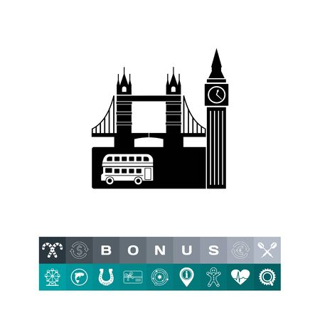 london tower bridge: United Kingdom Capital View Icon