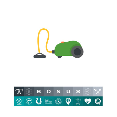 Icon of green vacuum cleaner