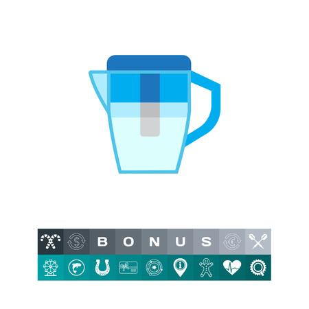 Icono de jarra de filtro de agua Foto de archivo - 83883308