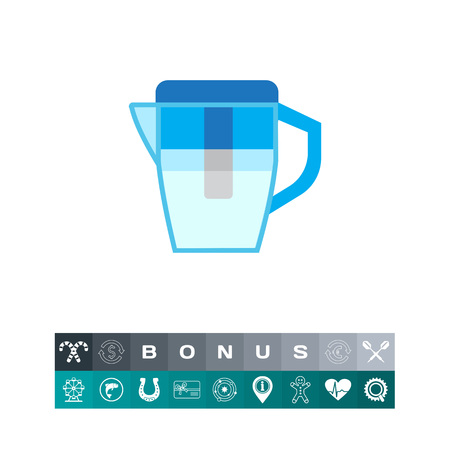Water filter jug icon