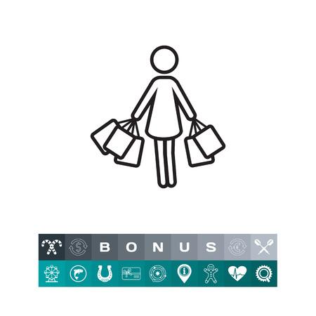 mujer en el supermercado: Woman with shopping bags
