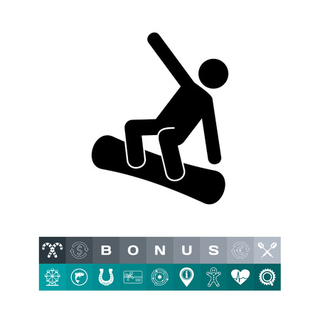 Snowboarding Man Icon