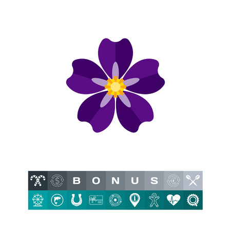 diaspora: Icon of blooming forget-me-not. Armenian genocide, nature, flora. Crime against humanity concept. Can be used for topics like national tragedy, flowers or beauty Illustration