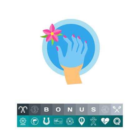 Bad voor hand icoon Stock Illustratie