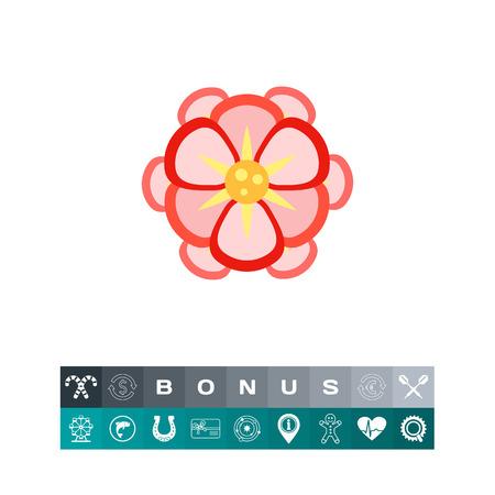 Beautiful pink begonia icon