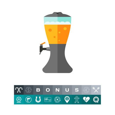 Beer dispenser icon Vector illustration.