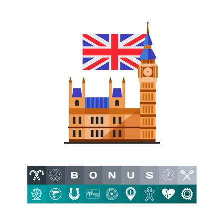Big Ben icon Vector illustration. Illustration
