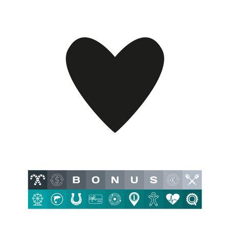 heart monitor: Black heart icon