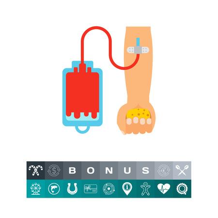 altruismo: Blood donation icon Vectores
