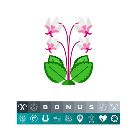 Blooming cyclamen  icon