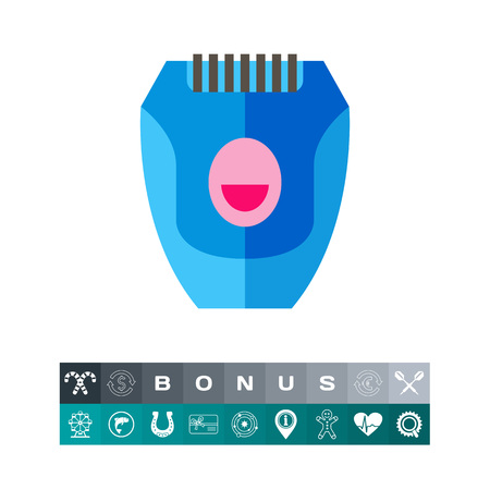 hairdresser: Blue epilator icon