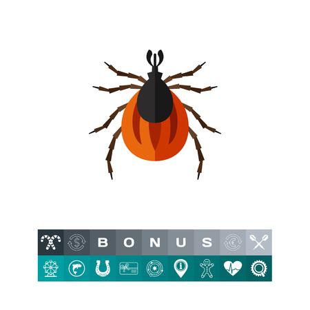 Brown mite icon