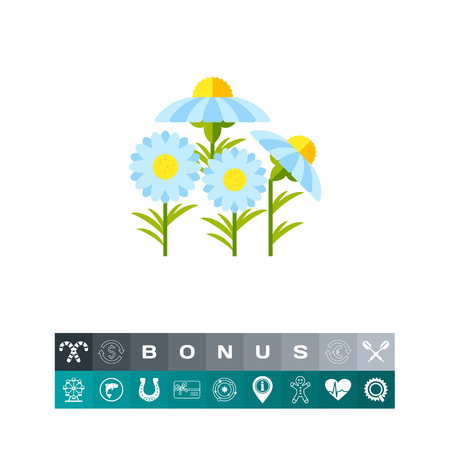 homeopathic: Chamomile vector icon