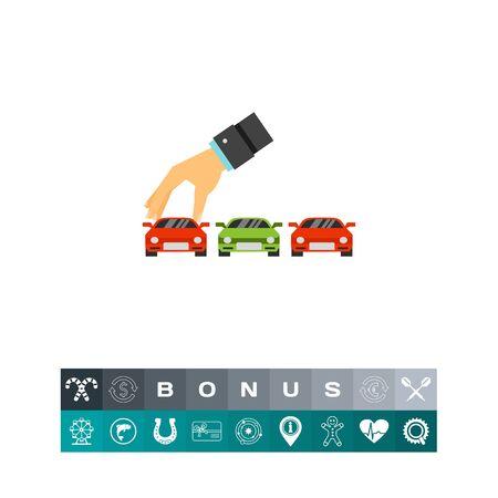 expensive: Choosing car icon Illustration