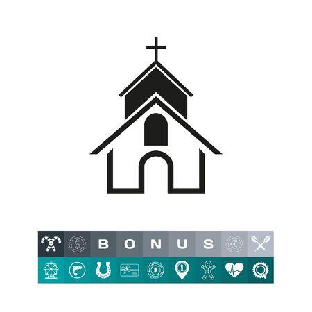 orthodoxy: Christian church simple icon Illustration
