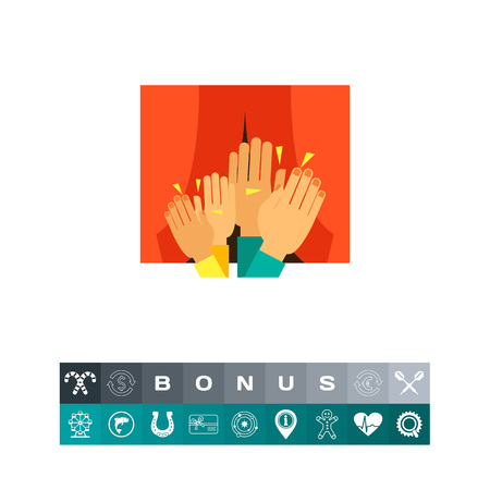 Clapping audience icon