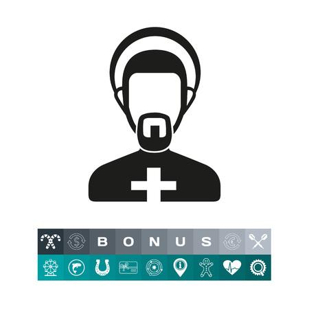 Clergyman icon set