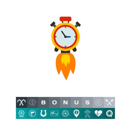 Clock Rocket Icon