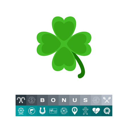 Clover vector icon Illustration