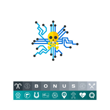Computer trespassing concept icon Illustration