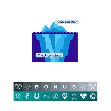Conscious and unconscious mind icon Ilustrace