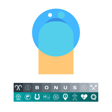 Contact lens icon Illustration