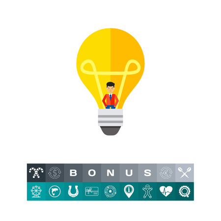 colourful tie: Creative People Concept, Light Bulb Icon