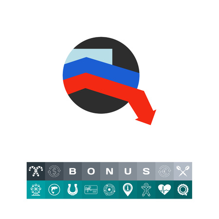 declining: Crisis in Russia vector icon