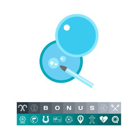 fertilization: In vitro fertilization vector icon