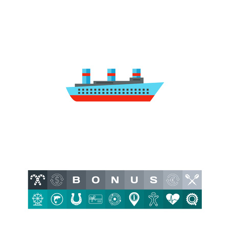 Isolated Steamship Icon