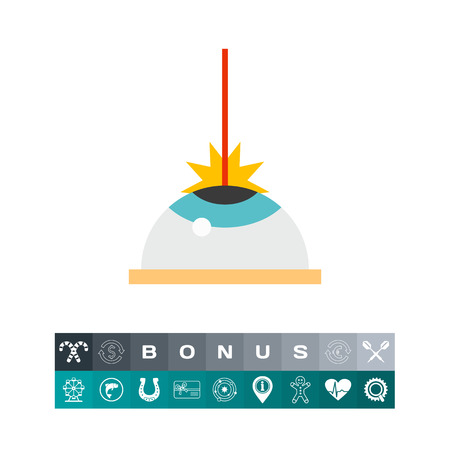 Icon of laser vision correction. Medicine, vision problem, operation. Oculist concept. Can be used for topics like laser eye surgery, procedure or vision correction