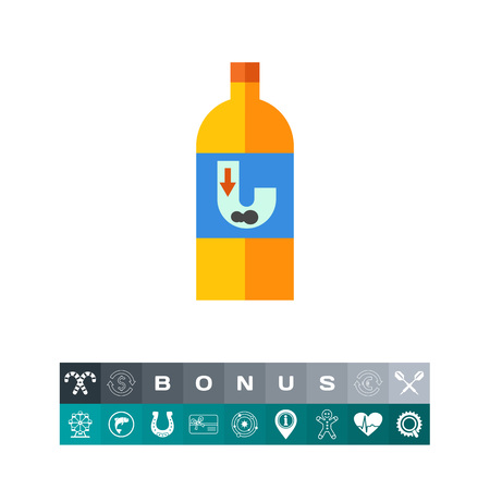 Liquid for pipe cleaning vector icon Illustration