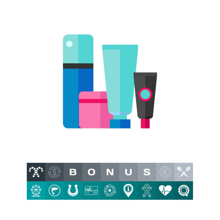 Makeup container icon