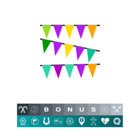 Mardi Gras garland decoration icon Stock Vector - 84085516