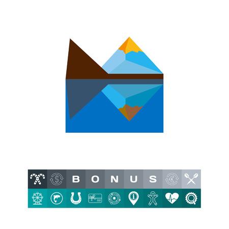 Matterhorn peak vector icon