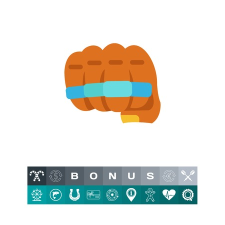 Metal knuckles icon