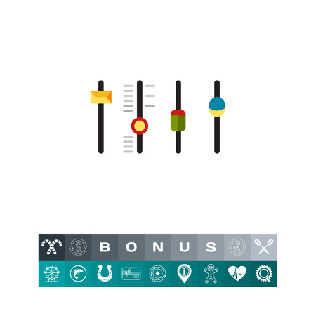 Mixing Console Faders Icon Illustration