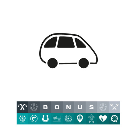 Minivan line icon Illustration