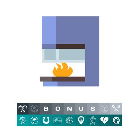 lounging: Modern fireplace icon