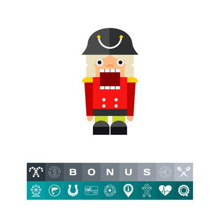 Nutcracker Toy Icon Illustration