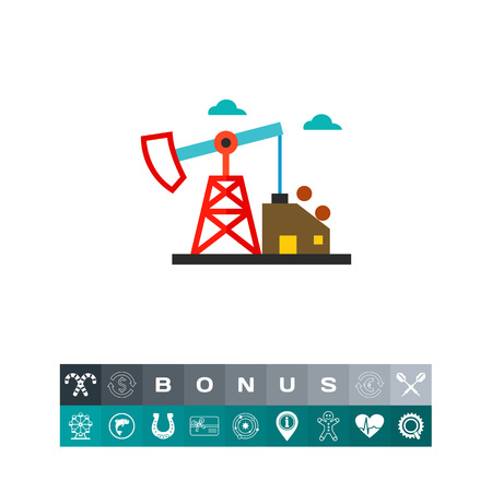 Oil extraction station vector icon