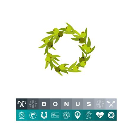 twigs: Olive wreath icon
