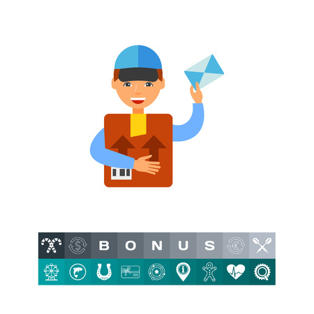 Package delivery icon vector illustration.