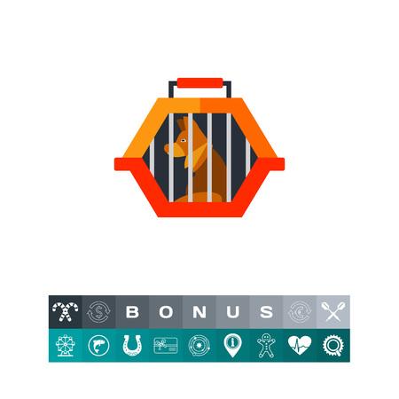 convenient: Pet travel crate icon Illustration